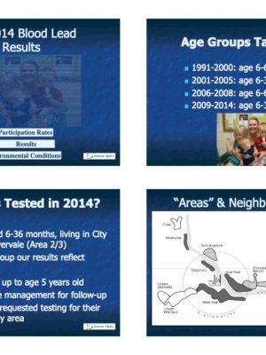Fall 2014 Blood Lead Report