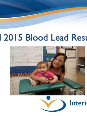 Fall 2015 Blood Lead Report