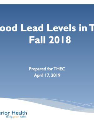 Fall 2018 Blood Lead Report