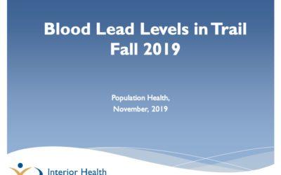 Fall 2019 Blood Lead Report