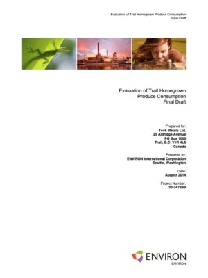 Evaluation of Trail Homegrown Produce Consumption (2014)