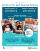 Children's Lead Testing Clinics