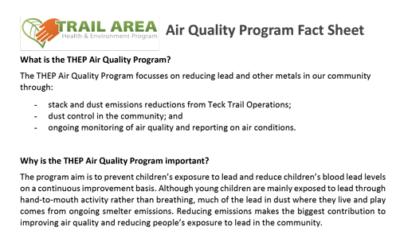 Air Quality Program Fact Sheet