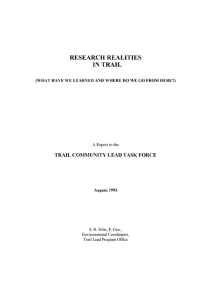 Research Realities in Trail (Hilts, 1993)