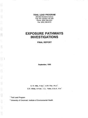 Exposure Pathways Investigations (1995)