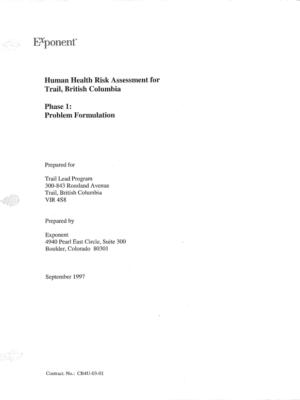 HHRA: Phase 1 Problem Formulation (1997)
