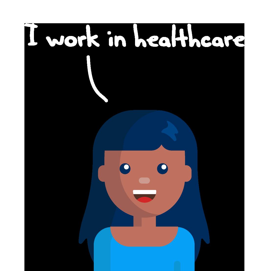 I work in healthcare avatar