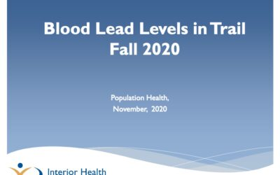 Blood Lead Levels in Trail Fall 2020